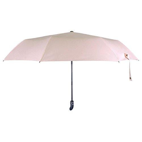 Regenschirm, Regen und Sonnenschirm Automatisch Faltbar mit Schwarzer Anti-UV Beschichtung für Winddicht, Regenschutz & 99{f48525d42234048f6e8697d6b9840b1cc9f6a2138a3130b9f0ea082453e83347} UV Schutz, UPF50 + Reise-Regenschirm(Rosa)YS014