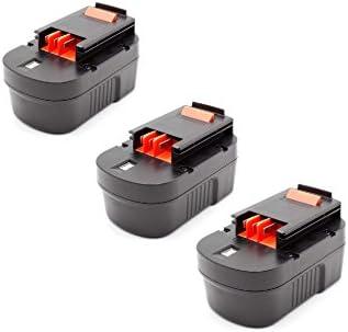 Vhbw 3x NiMH NiMH NiMH batteria 1500mAh (14.4V) per strumenti attrezzi utensili da lavoro nero & Decker SX6000, SX7000, SX7500, SXR14, XTC143BK   Di Qualità Dei Prodotti    Valore Formidabile    Primo nella sua classe  7a7eaa