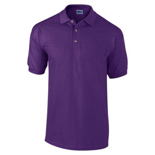 Gildan Ultra Herren Piqué Polo-Shirt, Kurzarm Lila
