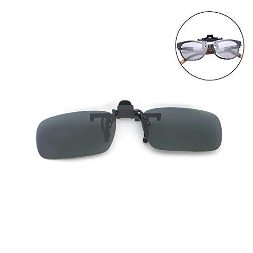 Unisex Polarisierte Flip Up Sonnenbrille Frameless Rechteck UV-Schutz-Objektiv Für Fahrsport