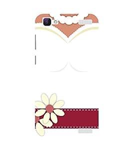 PrintVisa Designer Back Case Cover for Vivo V1 Max (White Bridal Dress With Flowers)