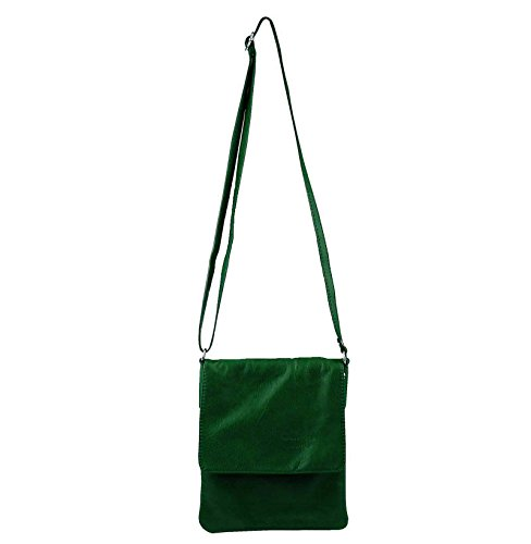 Made Italy, Borsa a spalla donna 18x22 cm (BxH) Verde scuro