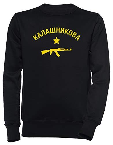64c0962c638 Erido Kalashnikov AK47 - Kalashnikov Hombre Unisexo Hombre Mujer Sudadera  Jersey Pullover Negro Tamaño M Men's