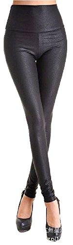 Weiche Kroko Leder Look Stretch LEGGINGS Legging mit Hohem Bund Größe S M oder L von bunny-shop (M (EU 38/40)) (Weiches Leder Rock)