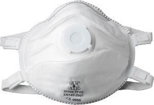 Biegsame Schutzmaske FFP3 SL mit Ventil, VPE 5 St (Beutel-ventil-maske)