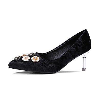 Zormey Frauen Heels Frühling Sommer Club Schuhe Komfort Neuheit Fleece Kundenspezifischen Materialien Hochzeit Im Freien Dress Casual Stiletto Heel Blume US10.5 / EU42 / UK8.5 / CN43