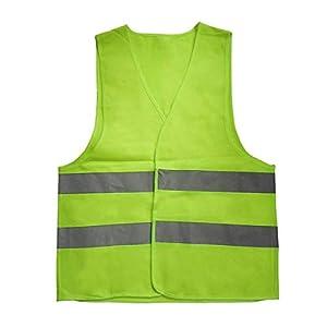 Gugutogo Reflektierende Kleidung Warnung Warnwesten Work Day Nachtnetzeinsatz für die Fahrradfahrt Verkehrssicherheit (gelb)