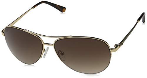 Guess Damen GU 7468 Sonnenbrille, Gold/Gradient Brown, 59