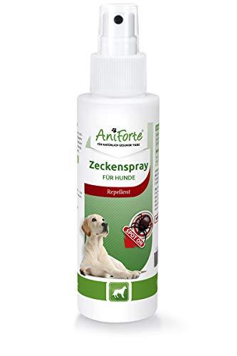 Espray contra garrapatas AniForte, 100ml, para perros, protección natural duradera contra garrapatas, con aceite de lavanda y de limón, sin productos químicos.