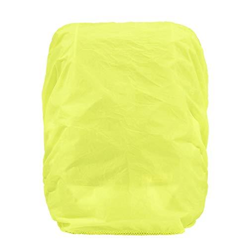 Hama Regenschutz/Sicherheitshülle (Regenhüllle in auffälliger Signalfarbe, mit Gummizug, mit Aufbewahrungstasche, geeignet für Schulranzen und Rucksäcke) gelb