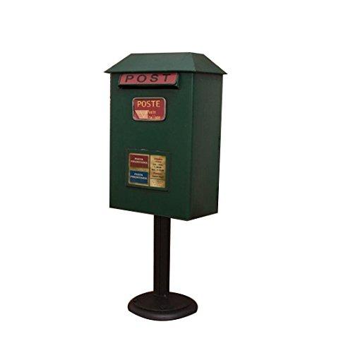 Ccjw cassetta delle lettere da terra, cassetta delle lettere impermeabile in ferro battuto vintage - altezza 50 cm (colore : green)