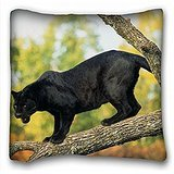 My Honey Pillow Pillow Cover black jaguar panther tree 18 in*18 Twin Sides