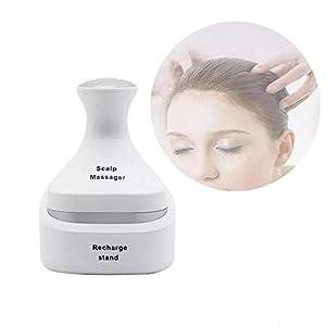 LIJJY Elektrischer Mini-Kopfhaut-Massager-Kopf-Massager-Handwiederaufladbarer Kratzer-Massager Für Kopf Entspannen Sich, Druck-Freigabe-Werkzeug-Entfernbare Knoten