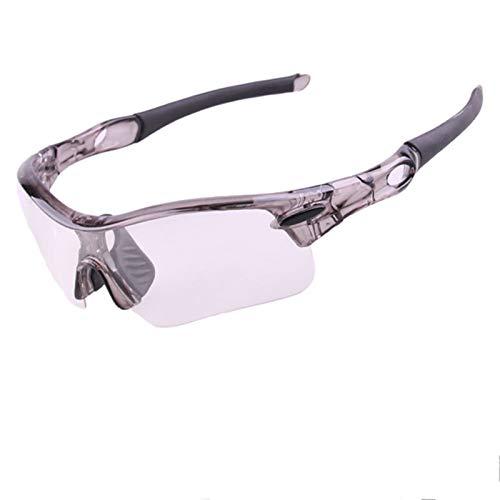 Coniea Nachtsichtbrille Motorrad PC Sportbrille Herren UV 400 Outdoor Brille Grau Schwarz Klar Gelb Linse