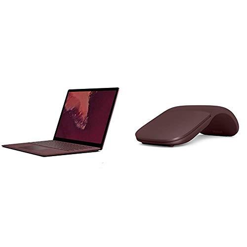 Microsoft Surface Laptop 2, 34,29 cm (13,5 Zoll) Laptop (Intel Core i5, 8GB RAM, 256GB SSD, Win 10 Home) Bordeaux Rot & Surface Arc Maus Bordeaux Rot