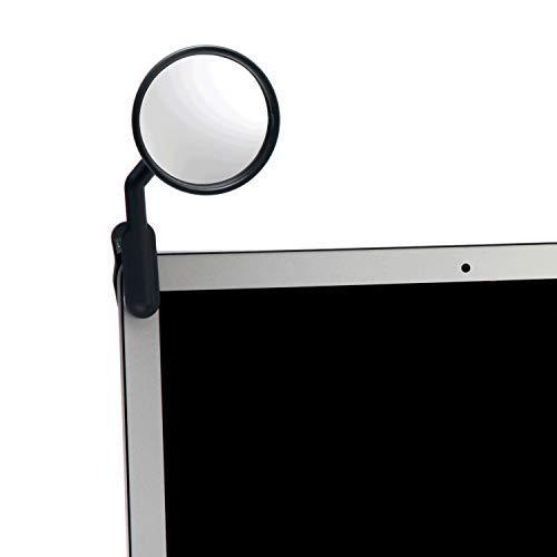 Peleg Design Spiegel zum Anklipsen, Computer-Rückspiegel, konvexer Spiegel für persönliche Sicherheit oder Sicherheit Schrank Schreibtisch Rückspiegel Uhr (Computer-monitor-rückspiegel)