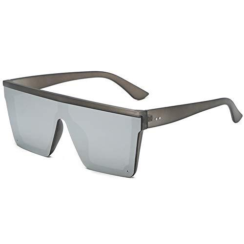 KDSANSO Unisex Sonnenbrille Einteilige Steampunk Sonnenbrille mit rechteckigem Glas und Großen Brillen