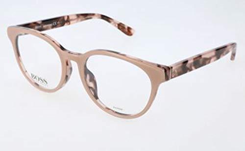 BOSS Hugo Damen Hugo Orange Brille Brillengestelle, Beige, 50