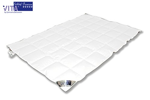 VitaSchlaf SOMMER/Übergangszeit Atelier Daunendecke 100% Gänsedaune Canada Premium - Gänsedaunen Bettdecke