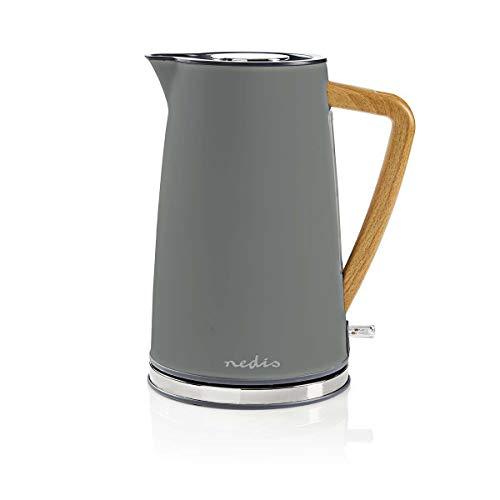 Nedis Elektrischer Wasserkocher, 1,7 l, weich, Grau