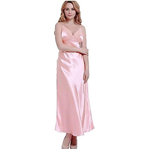 LIUDOULargos vestidos banquete vestido novia encaje elegante fiesta emulación seda albornoz , 4# ,