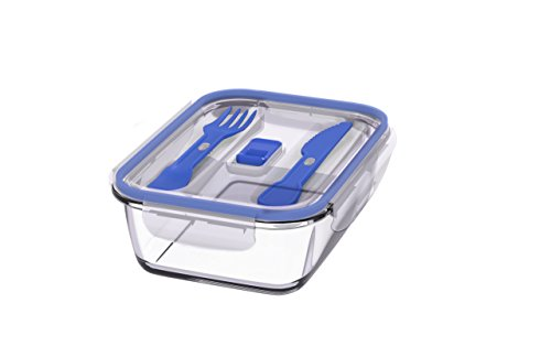 Luminarc pure box active boîte rectangle de 122 cl, Sodo tensionado, bleu, 18 x 11 x 18 cm