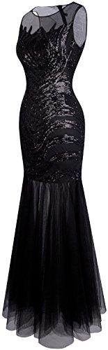 Angel fashions Damen Art Deco Paillette Inspiriert Meerjungfrau Bodycon Abend Kleid Abschlussball XLarge - 3