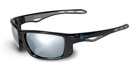 Nexi S-3 Action Sonnenbrille ideal als Sportbrille oder Fahrradbrille für Herren und Damen mit Polarisation in verschiedenen Gestellfarben und Scheibenarten mit Verspiegelung, Revo und Polarisation (modellabhängig) inklusive Etui und Mikrofasertuch