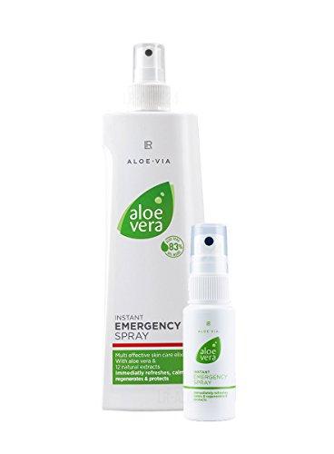 LR Spray d'urgence rapide aloe vera, 400 ml, polyvalent, avec 1 petite bouteille de pulvérisation (vide)