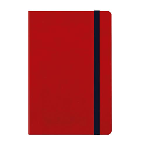 MEDIUMWEEKLY DIARY WITH NOTEBOOK 18 MONTH 2019/2020 - RED