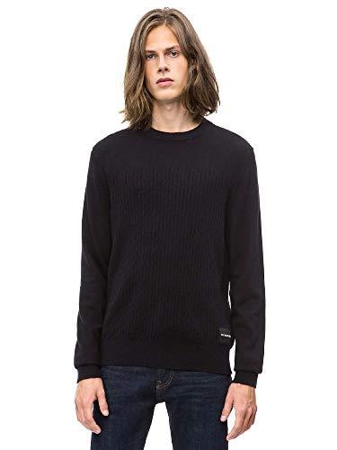 Calvin Klein Jeans Homme Sweater Cashmere Blend INSTITUTIONAL J30J309543 l Noir