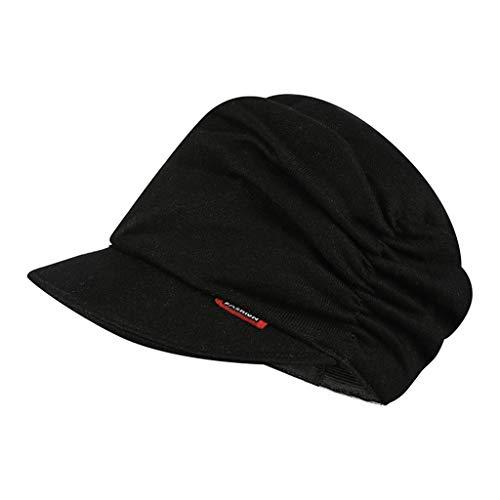 Eucoo berretto unisex berretto da sci invernale cappello caldo alla moda per esterni cappellino in maglia(nero,taglia unica)
