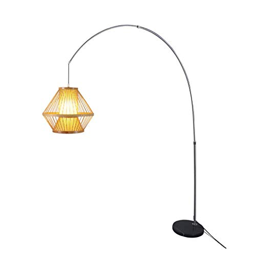 Floor lamp vbimlxft- Sala de té Lámpara de pie Decorativa de Estilo Chino Restaurante Sala de Estar de Estilo japonés Lámpara de pie Curvada lámpara de Piso