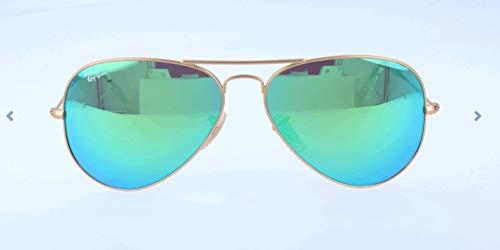 Ray Ban Unisex Sonnenbrille Aviator, Gr. Large (Herstellergröße: 55), Gold (gold 112/19)