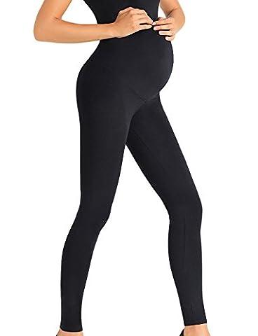 Trendy Legs Dorothy Legging Femmes Enceintes Top Qualité- Fabriqué En UE, noir,M