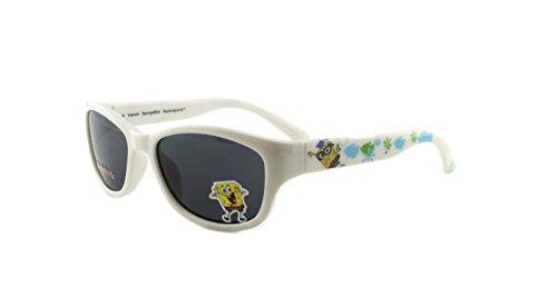 SpongeBob New Authentic Nickelodeon SB30weiß Kinder Sonnenbrille Grau 46mm Objektiv