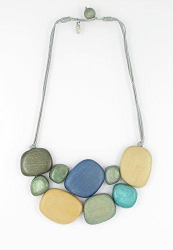 FANNY FOUKS Autumn Colour Mosaic Necklace