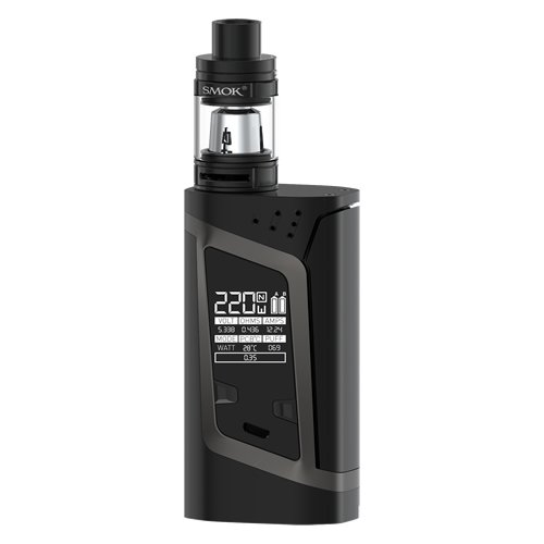 Smok Alien Kit - 220w Temperature Controlled Mod with 2ml TFV8 Baby Tank - 100% Authentic from Premier Vaping (Black/Grey)
