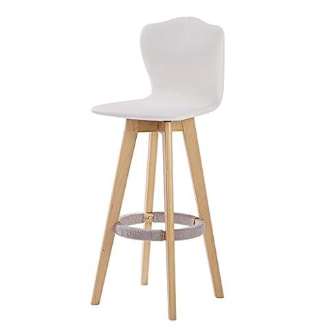 BZEI-Chair Rétro fauteuil Rotable fauteuil massif en bois massif Chaise