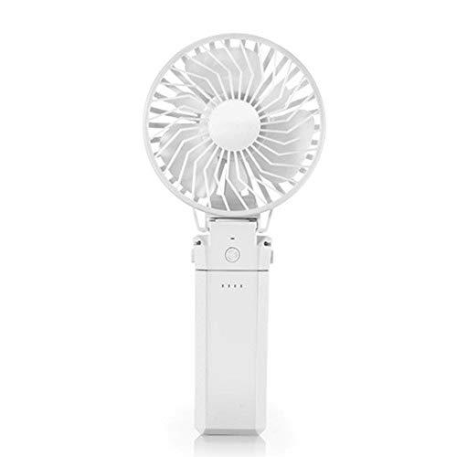 DWhui Alimentazione palmare Portatile Ventilatore a Batteria Ricaricabile Mini USB Ventola Piccola scrivania Ventilatore per casa Campeggio