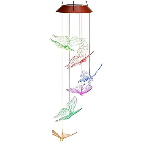 Bluesees LED-Windspiel, solarbetrieben, wasserfest, hängend, für Innen- und Außenbereich, Gartenbeleuchtung, Haus und Terrasse, Dekoration