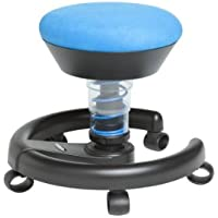 Preisvergleich für AERIS KISWOP02 Drehstuhl swoppster Basis, Bezug, Microvelours ocean-blue Feder, 15-50 kg Fußring, schwarz