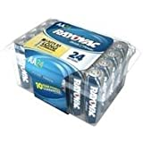 Rayovac Alkaline AA Batteries, 815-24PPF, 24-Pack With Recloseable Lid Size: AA UnitCount: 24