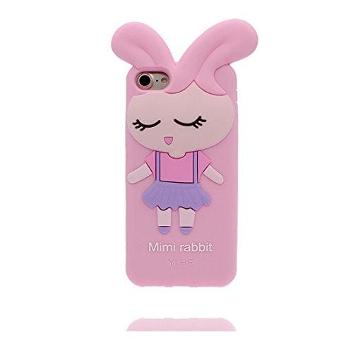 iPhone 6s Custodia, TPU protezione Shell iPhone 6 Copertura, iPhone 6S Case Cartoon Tdurevole Cover - 3D Bottiglia bianca, Bottiglia di birra, Anti-Graffi Pink