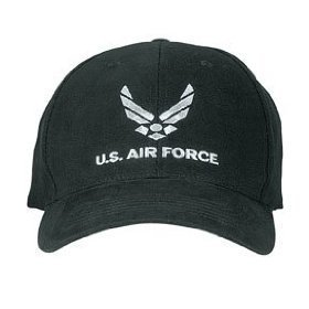 Black New Wing US Air Force Low Profile USAF Hat Cap (Air Force Rothco)