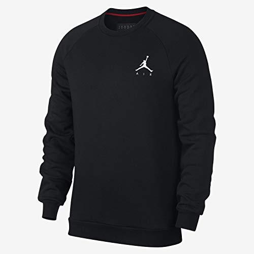 Nike Herren Jumpman Fleece Crew Sweatshirt M Schwarz/Weiß Winter Herren Sweatshirt