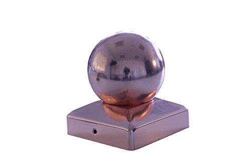 Pfostenkappe Kupfer 121 x 121 mm Kugel 12 x 12 cm
