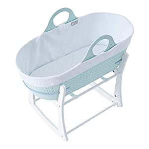 Tommee Tippee Sleepee Baby Moses Basket and Rocking Stand Green   6
