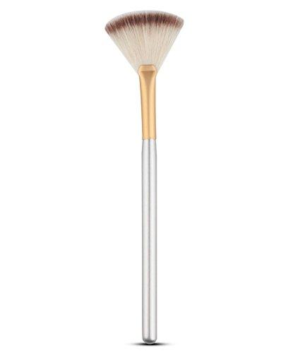 Zedtom Set de pinceaux à éventail pour maquillage et cosmétique argent