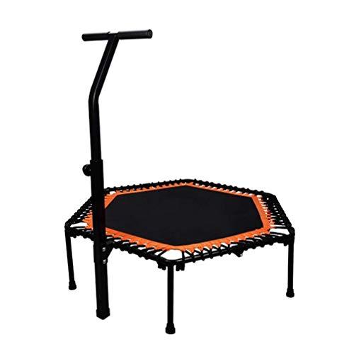ZQ QZ Fitness-Trampolin Faltbares Innentrampolin - Verstellbare Armlehnen - Erwachsene Kinder Nutzung PP Jump Cloth (Color : Orange, Size : 50 inches)